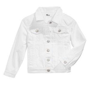 Girls white denim Jean jacket